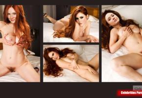 karen gillan, redhead, fake, multi, collage, boobs, tits, handbra, haired pussy