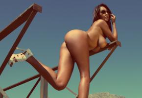 nude, ass, superboobs, sunglasses, big tits, boobs, tanned, legs, ela savanas