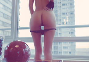 pussy, ass, window, gloves, erotic, sexy ass, panties down, laura cattay, playboy argentina