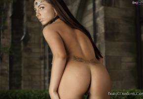 ezca, brunette, baremaidens, rear, veiw