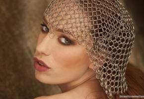 titania, redhead, baremaidens, closeup, face