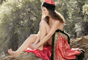 betcee morgan, brunette, baremaidens, outdoors, smile, legs