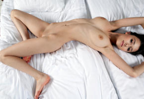 mila azul, mila, milla, brunette, bed, naked, big tits, nipples, shaved pussy, hi-q, perfect girl, perfect body, perfect pussy, perfect tits, beauty, long hair, sexy legs