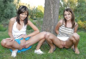 girlfriends, spread legs, pussy, pissing, nature, nikita wiliams, shaved pussy, teen, smile, upskirt, bad quality, without panties