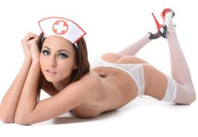 isizzu, heels, stockings, brunette, nurse, hello nurse, michaela isizzu, ass, suspenders, tanned