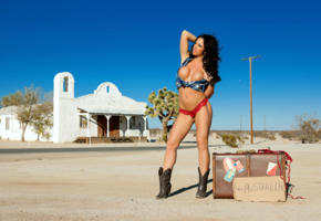 madison ivy, brunette, big boobs, nipples, big tits, boobs, sexy, hot, suitcase, boots, madison ivy love