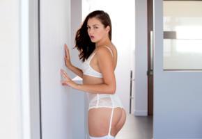 allie haze, model, brunette, ass, pornstar, lingerie, sexy