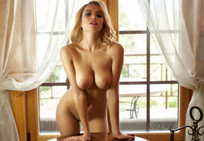 wallpaper, margot, photodromm, big tits, boobs, shaved, hot, navel, nude, naked, blonde