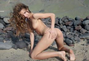 antea, altea b, belinda k, auburn, outdoors, desert, naked, small tits, hard nipples, shaved pussy, labia, ass, doggy, ultra hi-q, hot, ass wallpaper