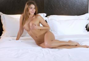kailena, davina e, sybil a, sexy girl, adult model, nude, naked, sexy legs, long hair, bed, boobs, tits