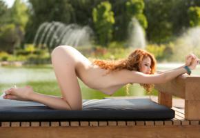 heidi romanova, heidi, sexy girl, nude, naked, ass, redhead, legs, doggy, skinny, tits