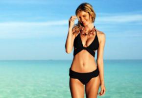 marisa miller, marisa, model, beach, hot, swimsuit, sexy, blonde, low quality