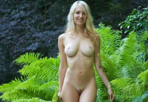 corinna, daniela, daniela rosch, arielle, blonde, sexy, babe, naked, breasts, hot, shaved pussy, boobs, big tits, trees, model, smile