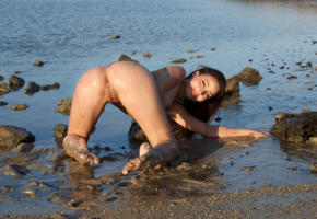 lorena g, lorena, lorena b, lorena a, lorena graham, adult model, sexy girl, wet, ass, beach, sea, brunette, labia, pussy, doggy