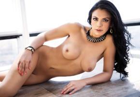vanessa navarrete, brunette, nude, naked, boobs, tits, nipples, necklace