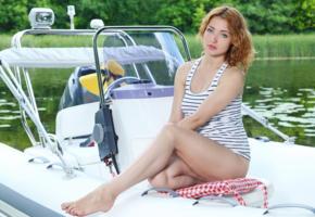 kika, sexy girl, adult model, look, yacht, legs, valeria, calida, yanina