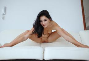 malena, malena fendi, malena f, adult model, shaved pussy, legs, tits, pussy, brunette, spreading legs, black cherry