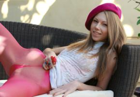 anjelica, abby, chelsea, krystal boyd, non nude, beret, leotards, shaved pussy, smile, hi-q