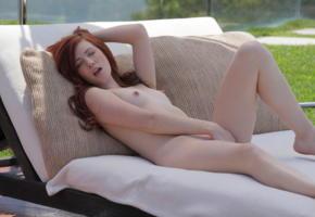 elle alexandra, redhead, babe, x-art, masturbate, delicious, nipples, boobs, small tits, sexy, outdoors, petite, elle alexandria, elle e