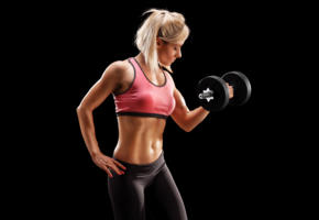 fittness, blonde, dumbbell, weights, gym, sporty, sexy