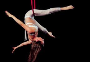 hoop, aerial, yoga, aerial dance, aerial hoop, erotic, slim, long hair, posing
