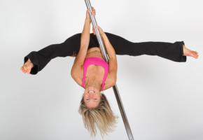 pole, dancer, sporty, flexible, smile