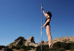 black hair, pole, dancer, pole dancer, sporty, legs