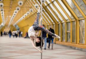 black haired, public, pole, dancer, pole dancer, sporty, legs