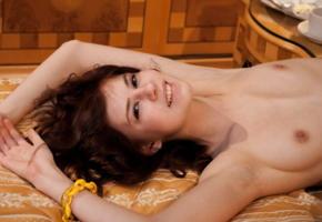 juliett lea, sexart, brunette, nude, tits, nipples, smile