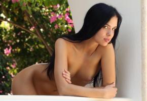 venice lei, met-art, latina, long hair, brunette, tits, tanned