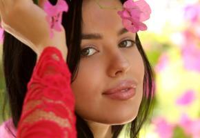venice lei, met-art, latina, long hair, brunette, puffy lips