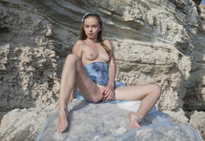 milena d, sexart, on the rocks, nude, fingering, milena angel, kate, milenna, sunna, legs, tits, rocks, pussy, young