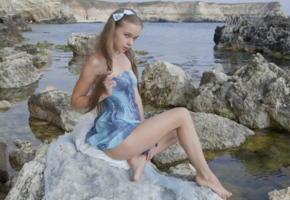 milena d, sexart, on the rocks, nude, fingering, milena angel, kate, milenna, sunna, legs, rocks