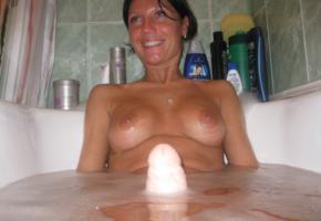 milf, toy, bath, amateur, tits, dildo, bathroom, wet