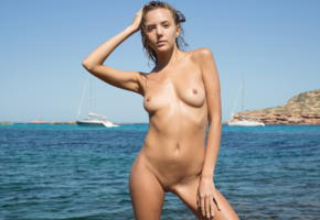 katya clover, clover, mango, mango a, caramel, beach, wet, naked, small tits, nipples, shaved pussy, labia, hi-q, katyaclover