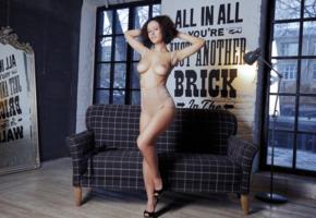 metart, sofa, nude, pammie lee, brunette, boobs, legs, topless, sexy legs, winona, lubachka, lubashka, paula t