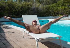 vinna reed, sexy girl, nude, cristal caitlin, cristin caitlin, kristal kaytlin, shanie ryan, vienna reed, vinna r, sunglasses, pool, inviting, spreading legs, pussy, labia, anus, excitingly