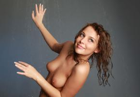 nikia, nikia a, sexy girl, adult model, innocent looking, cutie, russian, natural beauty, nikia ahe, boobs, smile, wet, tanned, perfect girl, perfect tits