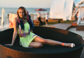 girl, cute, sexy, long hairs, smile, legs, non nude, adelina jurevica, adelina, jurmala, latvia, beach