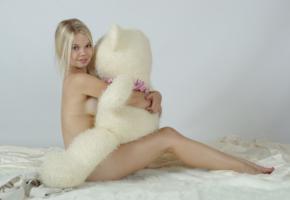 blonde, legs, bear, stasya, teddy bear, nude, teen