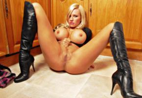 michelle thorne, busty, british, pornstar, adult model, curvy, milf, sexy babe, long hair, posing, laying, present, big tits, knockers, hoops, juggs, funbags, gazongas, enhanced boobs, tasty, shaved, cunt, legs, spread wide, black, leather, knee boots, fetish babe, babes in boots