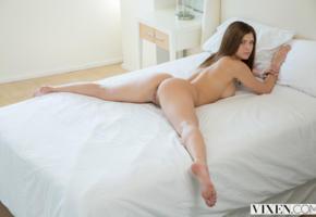 leah gotti, spread legs, ass, sexy, brunette, fiona, spreading legs, hot ass, legs, labia, back, bed