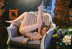 angelika d, nika, anjelika d, young, blonde, slim, ukrain, adult model, nice tits, sexy babe, long hair, posing, armchair, ultra hi-q, lift legs, nice rack, sexy ass, hi-q, best quality, nika l