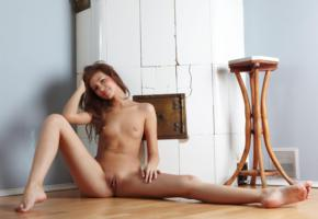 irina, redhead, tits, smile, shaved, pussy, irina j, shaved pussy, tanned, labia, small tits