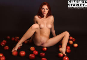 fake, scarlett johansson, actress, apples, celebrity fake, apple, tits, labia, shaved pussy