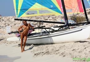 katya clover, clover, mango, mango a, caramel, auburn, beach, sailboat, bikini, topless, tits, nipples, tanned, smile, hi-q, wet, yacht