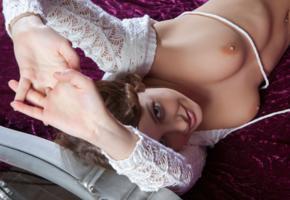 nikia, nikia a, sexy girl, adult model, boobs, tits, brunette