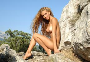 nude, naked, outdoor, blonde, zemani, kati, under the sky, boobs, tits, sexy legs, tanned