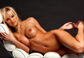 shera bechard, playboy model, sexy blonde, sexy legs, big boobs, nipples, shaved pussy, high heels, lounge, playboy, tanned, big tits, boobs