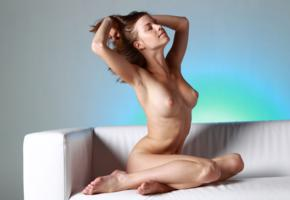 mocca, brunette, nude, naked, sexy girl, nipples, adult model